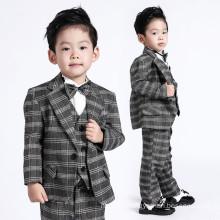 Handgemachte Qualitäts-nach Maß Tuxedo-Karo-Muster-Blumen-Jungen-Baby-Klage