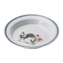 Vaisselle bleue et blanche de mélamine / assiette profonde de mélamine / vaisselle (D5210)