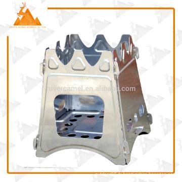 Gros WS009 en acier inoxydable Pocket Mini bois poêle poêle à bois Camping Portable
