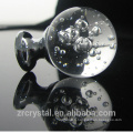 boule de cristal de haute qualité bulles verre poignée boutons push pull pour commode, armoire, tiroir et armoire