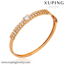 50302 Xuping wholesale indian glass 6 gram gold plated bangles