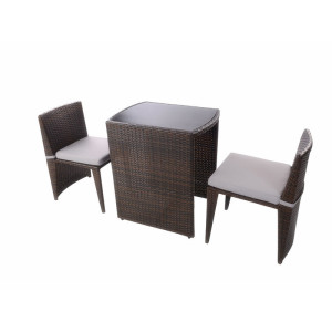 3pc coffee sapce- saving rattan set