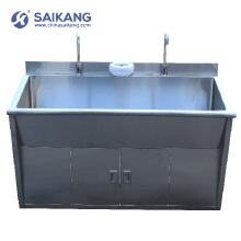 SKH036-2 Medicine Steel SUS 304 Material Washing Sink For Hospital