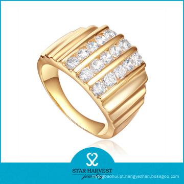 Ouro chapeamento anel de prata 925 Sterling (SH-R-0453)