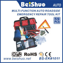 59PCS Auto-Notfall-Werkzeugsatz am Straßenrand