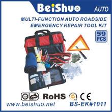 59PCS Kit de ferramentas de emergência para automóveis na beira da estrada