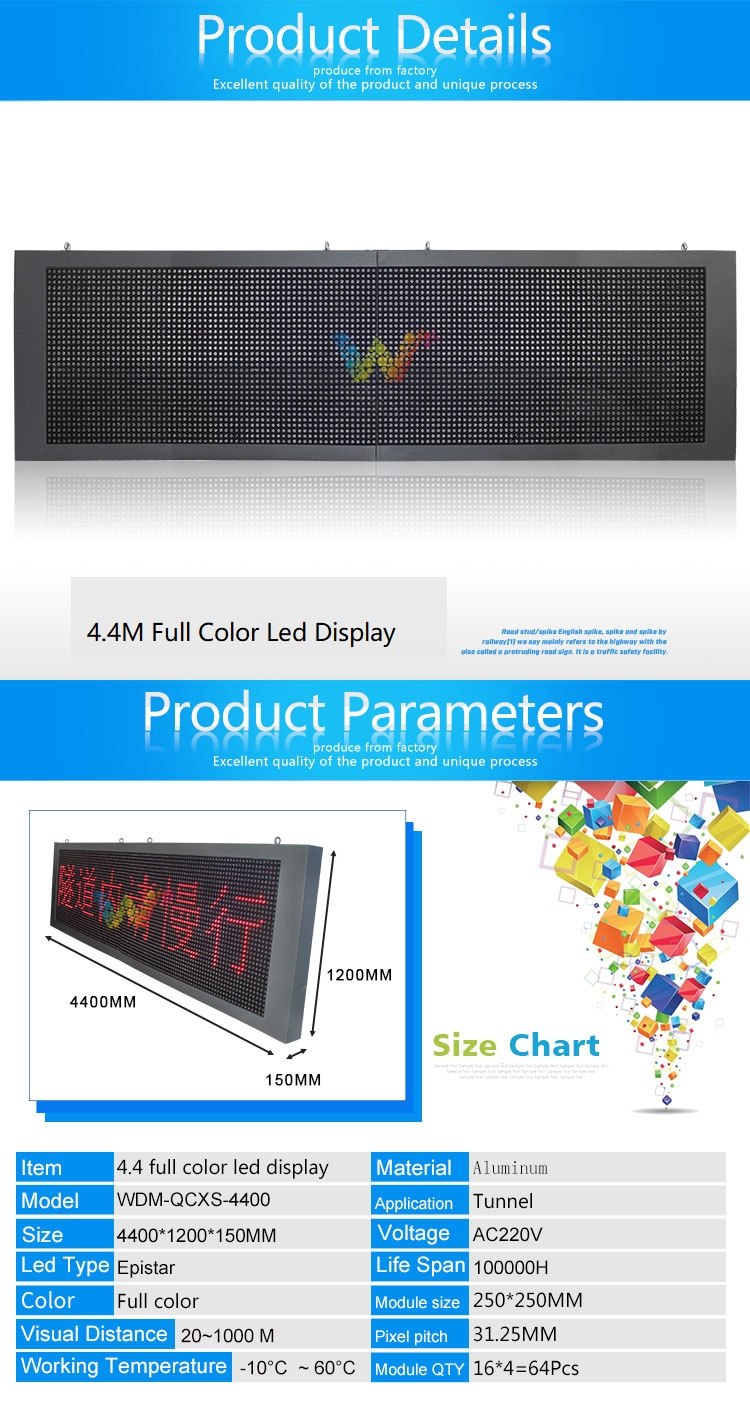 4.4M led display