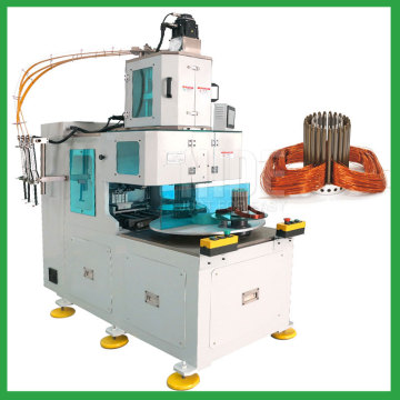 Automatic motor stator wire winding machine