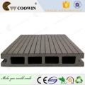 Color gris oscuro Imitación de madera WPC Piso