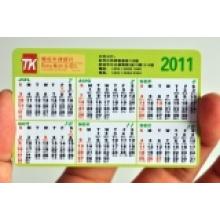 Tarjeta de regalo del calendario del PVC para la promoción del anuncio del negocio