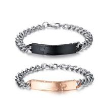 Pulseira religiosa gravada personalizada, combinando pares de jóias pulseira