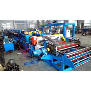 Carriage steel floor plate forming machine