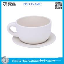 Tasse à café en céramique de latte de haute qualité avec la soucoupe