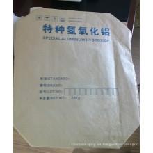 20kg bolsa de papel especial de hidróxido de papel Kraft de la válvula