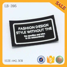 LB395 3D logo leather back garment silicone patch