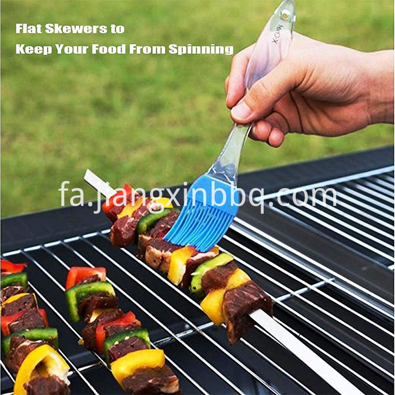 Kabob Skewers 17 Stainless Steel Bbq Barbecue Skewers Bbq