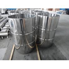 Tambour en acier inoxydable, tambour avec couvercle de serrage, tambour en acier inoxydable à dessus ouvert