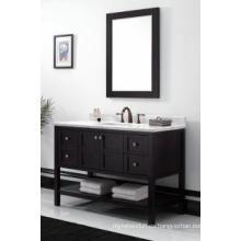 Gabinete de baño moderno reflejado gabinete principal de madera uno (JN-8819713C)