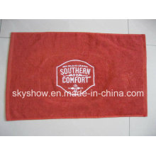 Embroidered One Side Velour Bar Towel