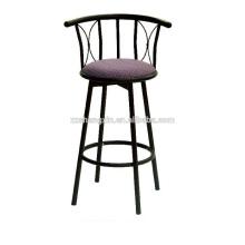 Metal Backrest Bar Chair, Swivel Bar Chair with Sponge Cushion for Sale