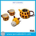New Product Creative Giraffe Combined Teapot Cup