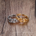 Creativity Simple Stainless Steel Gold Love Knot Ring