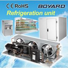 Конденсаторные агрегаты для коммерческих холодильных камер с горизонтальным холодильным компрессором R404A