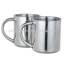 10 Oz Metal Coffee Mug With Big Handle