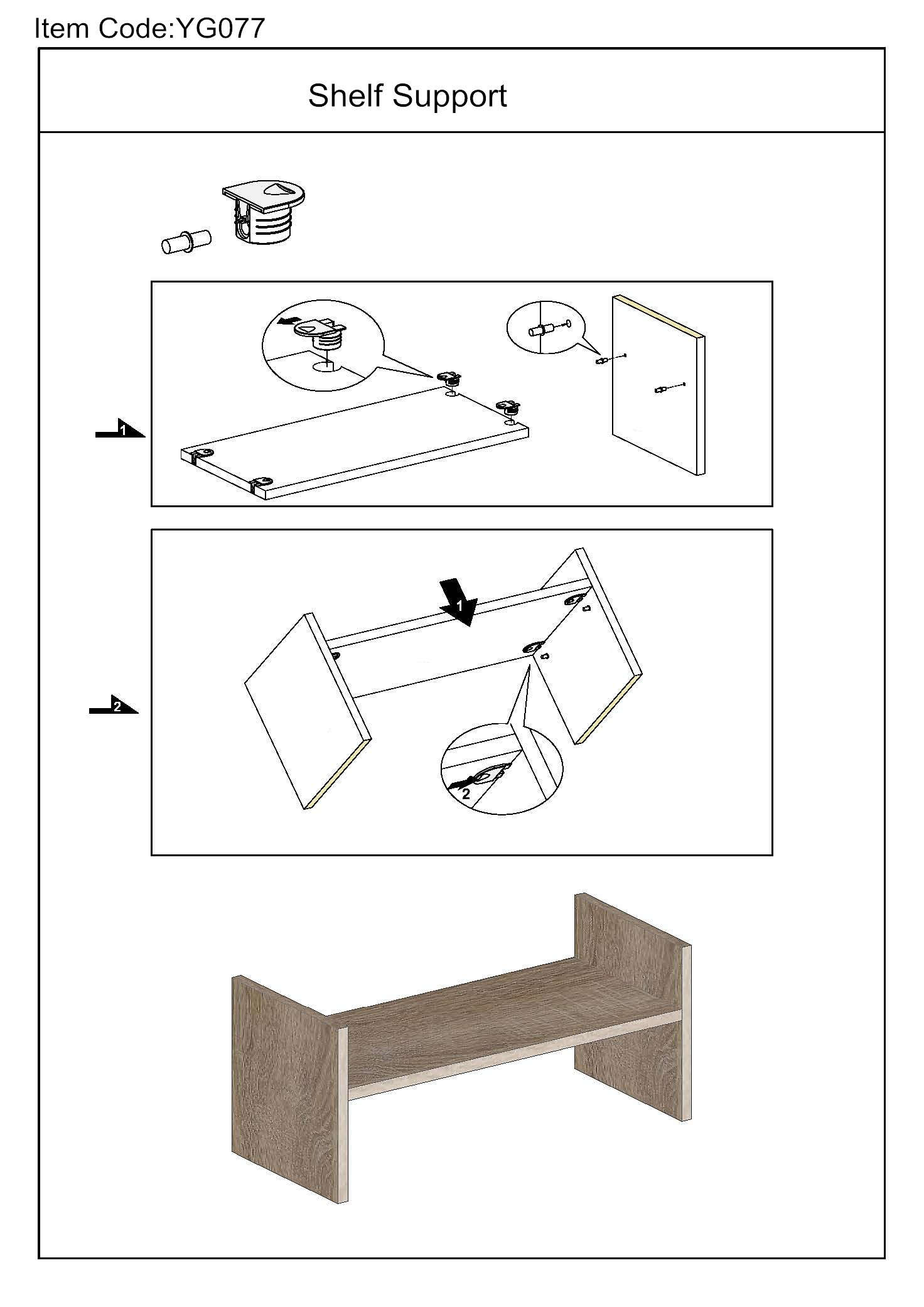 shelf supporting fittings