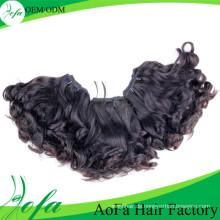 100% natürliches unverarbeitetes unverarbeitetes Haar Remy Weavon Menschenhaar