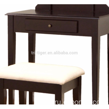 Frenchi Furniture Wood 3 Pc Vanity Set in Espresso Finish