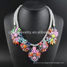 Moda nobre jóias atacado colar de flores com acrílico SN-035