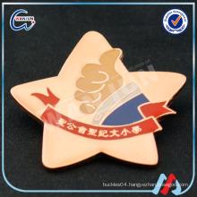 enamel fashion star shape metal lapel pin