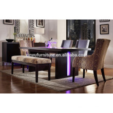 6 person wooden restaurant table set XYN1489