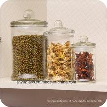 Armazenamento de frascos de vidro para embalagens de alimentos