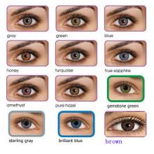 Lente de contato de cor fresca de 12 cores de alta qualidade