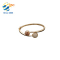 Custom Engraved Lucky Mommy Jewelry 14K gold Plain Cuff Bangle