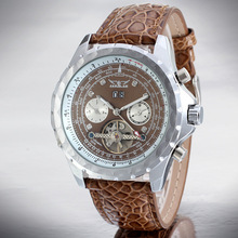 Leather OEM / ODM Tourbillon Automatic Men Casual Watch