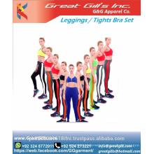 Sports Bra And Elastic Workout Leggings Pants 2 Pieces Set