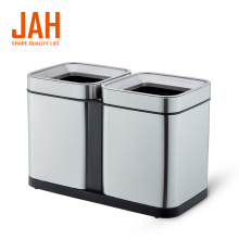 JAH 430 Stainless Steel Double Bin Recycling Dustbin