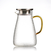 1500ml Heat Resistant Borosilicate Glass Water Pitcher / Carafe / Jug with Stainless Steel Lid for Homemade Juice & Iced