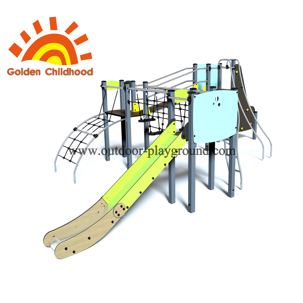 Climbing Balance Playset Outdoor Playground Facility For Sale