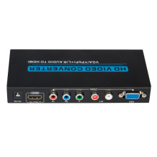 VGA / YPbPr + R / L Audio zu HDMI Konverter