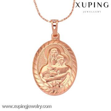 32144 Rose Gold Cor Oval Mary Pingente, Mãe e Filho pingente jewellry