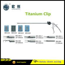 Wiederverwendbarer laparoskopischer Titanium Clip Applikator