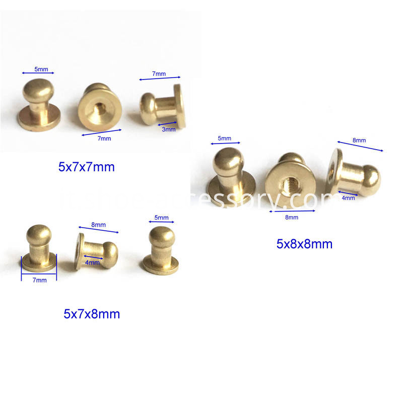 5mm Head ScrewBack Button Studs
