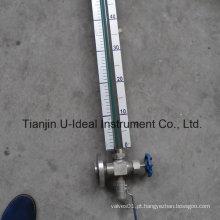 Indicador de nível de nível tubular de vidro simples e barato
