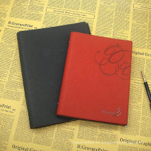 Papel cuadriculado Notebook PU Journal / Reellable Leather Journal