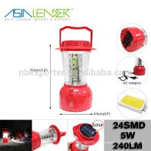 Productos de líder de Asia BT-4863 ABS 24 SMD LED Solor Camping Light