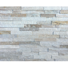 Popular Gold Line Gold Quarzite Stone Paneles de pared